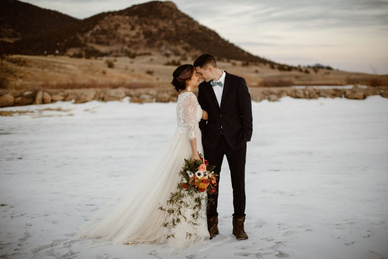 Celestial Themed Wedding – Beautiful Cozy A-frame Triangle Cabin Elopement